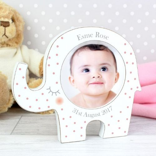 Personalised Girls Elephant Photo Frame